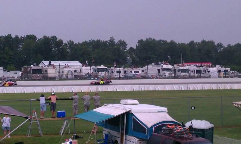 Vista sentada para Pocono Raceway Secção Infield