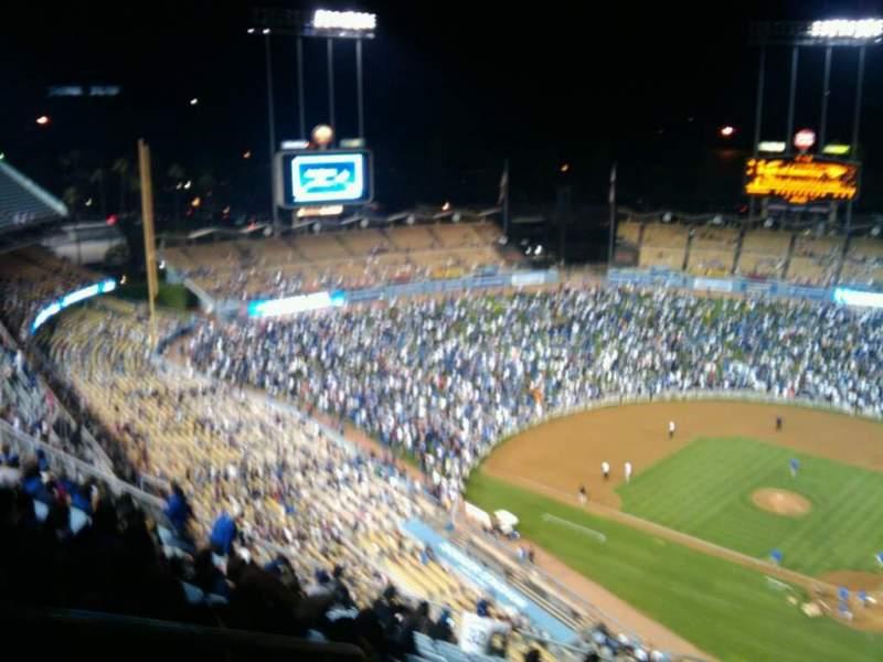 Vista sentada para Dodger Stadium Secção 7TD Fila o Lugar 23