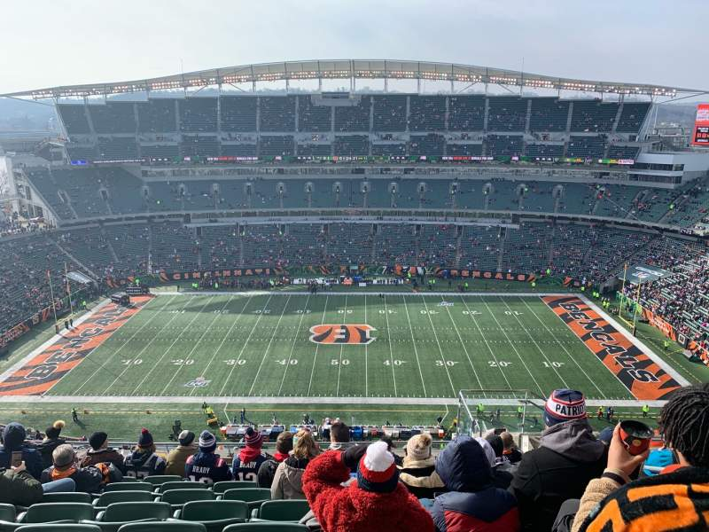 Vista sentada para Paul Brown Stadium Secção 340 Fila 23 Lugar 6