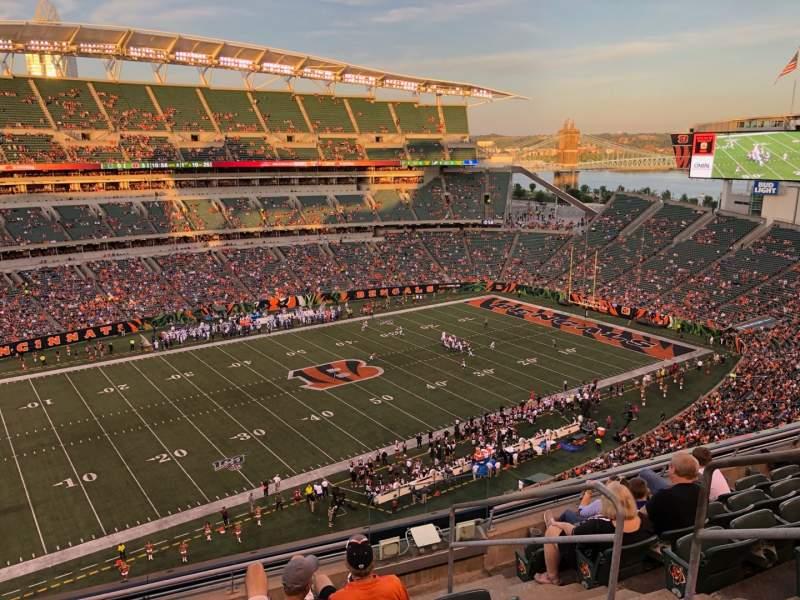 Vista sentada para Paul Brown Stadium Secção 314 Fila 7 Lugar 1