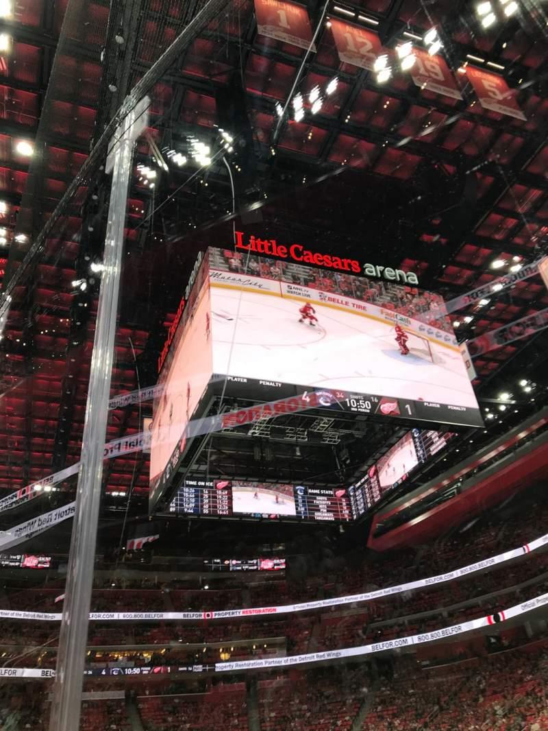 Vista sentada para Little Caesars Arena Secção 118 Fila 1 Lugar 2