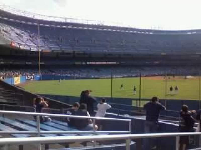 Vista sentada para Yankee Stadium Secção Monument Park