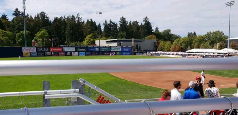 Vista sentada para Nat Bailey Stadium Secção 11 Fila 3 Lugar 15