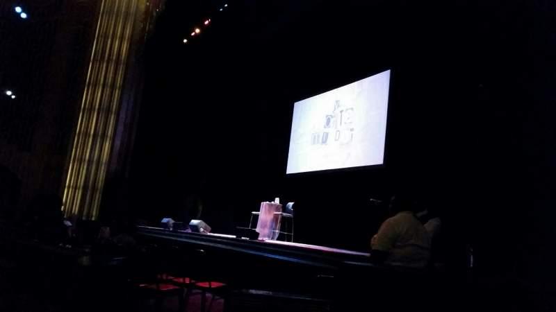 Vista sentada para Paramount Theater (Oakland)  Secção Orch Fila D Lugar 12