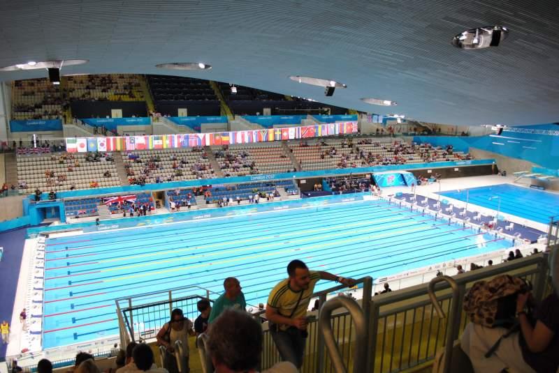 Vista sentada para London Aquatics Centre Secção 313 Fila 21 Lugar 162