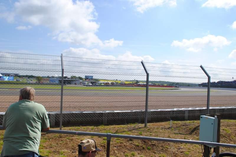 Vista sentada para Silverstone Circuit Secção General Admission