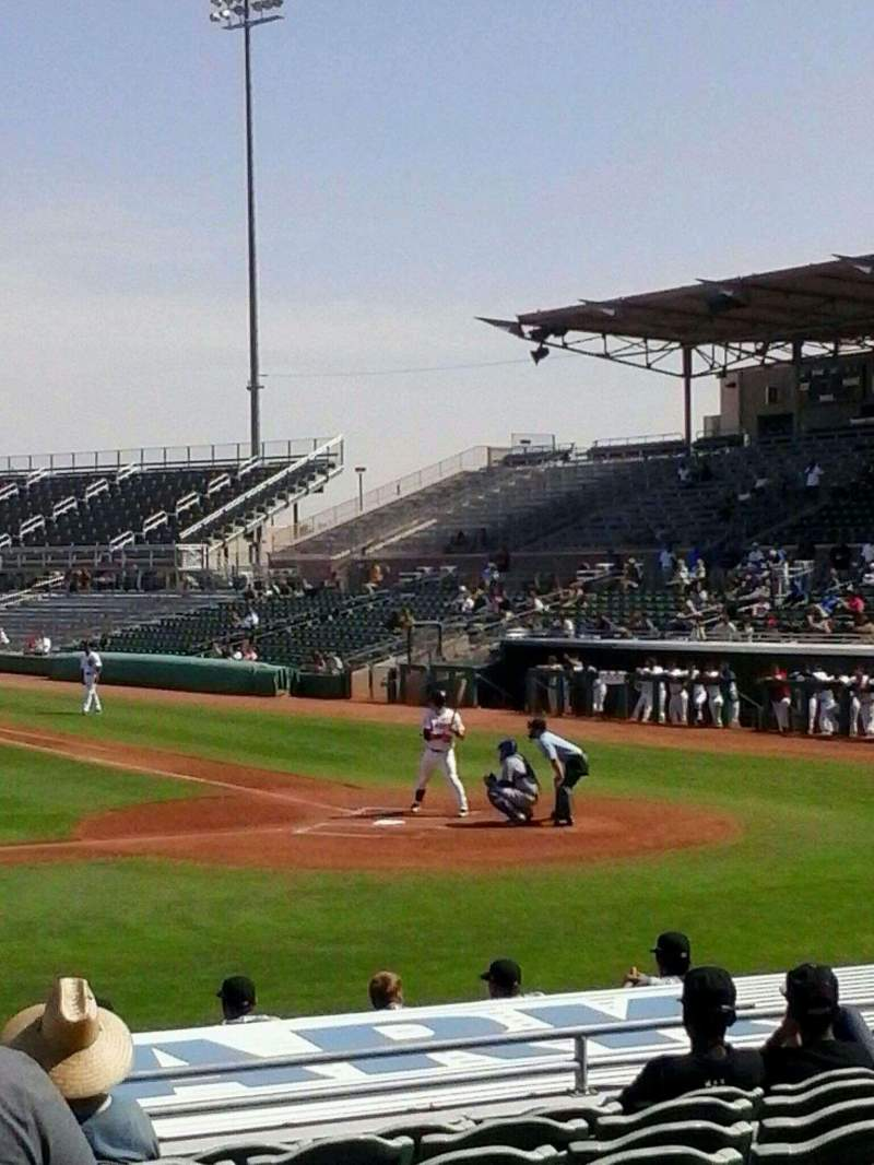 Vista sentada para HoHoKam Stadium Secção 108 Fila 6