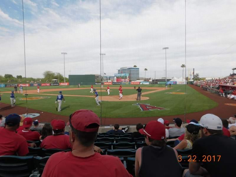 Vista sentada para Tempe Diablo Stadium Secção 10 Fila J Lugar 5
