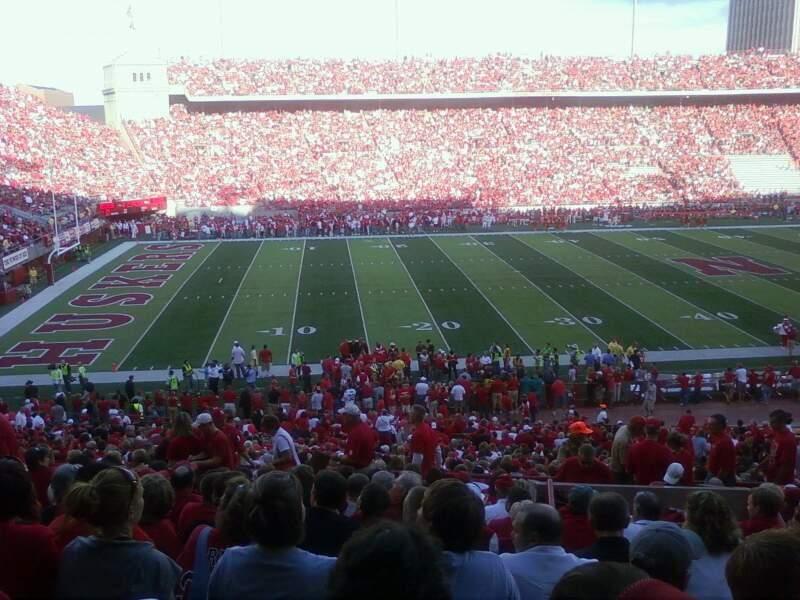Vista sentada para Memorial Stadium (Lincoln) Secção 30