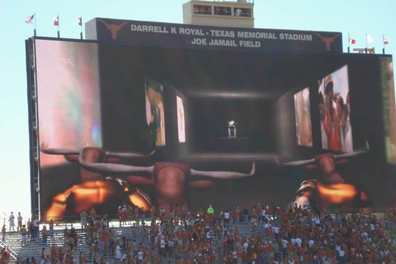 Vista sentada para Texas Memorial Stadium Secção 32