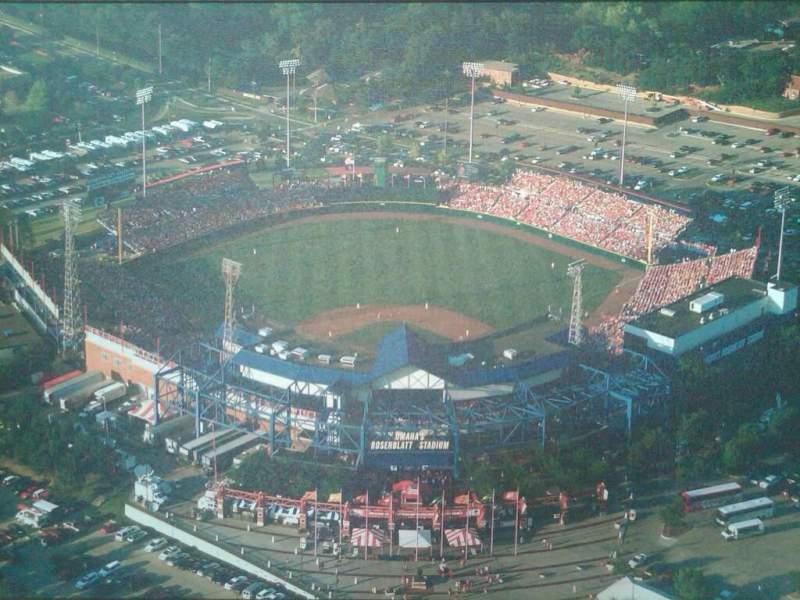 Vista sentada para Rosenblatt Stadium