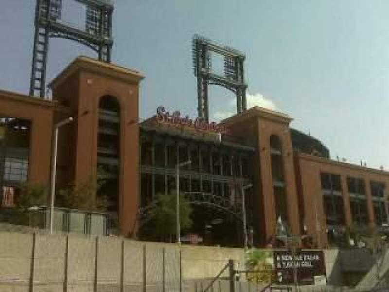 Vista sentada para Busch Stadium