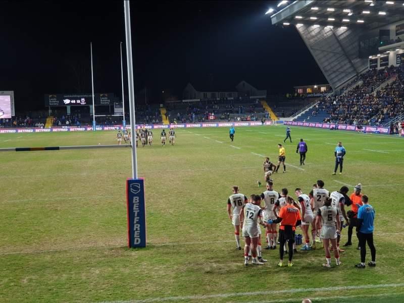 Vista sentada para Headingley Stadium Secção Global Stand Terrace