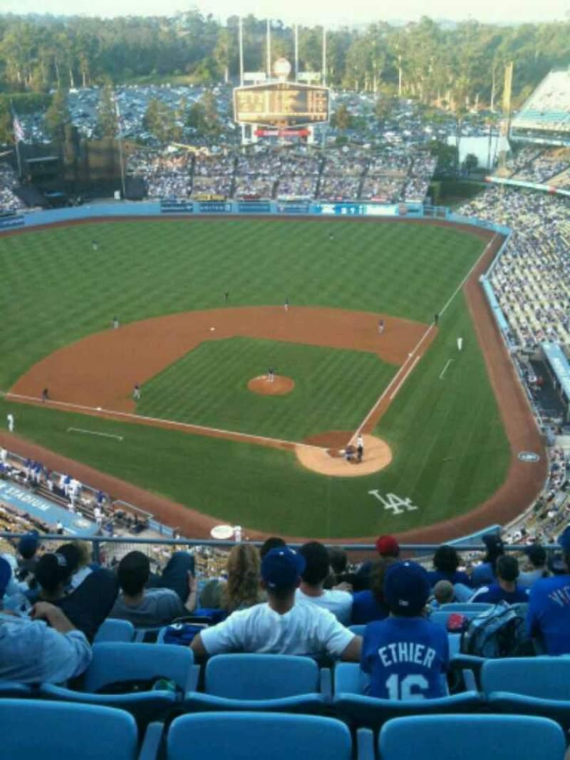 Vista sentada para Dodger Stadium Secção 7TD Fila K Lugar 11