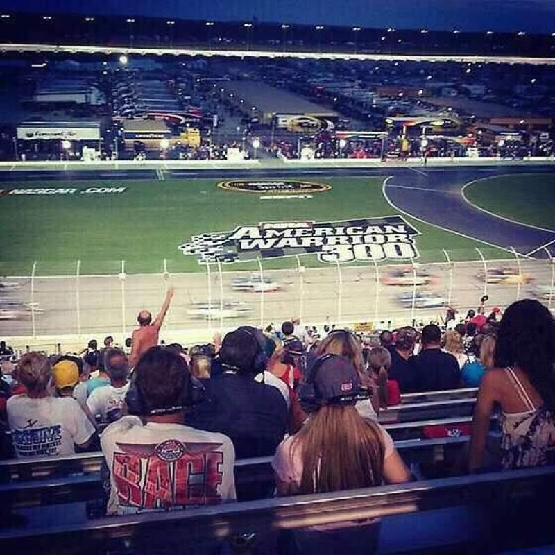 Vista sentada para Atlanta Motor Speedway Secção 143