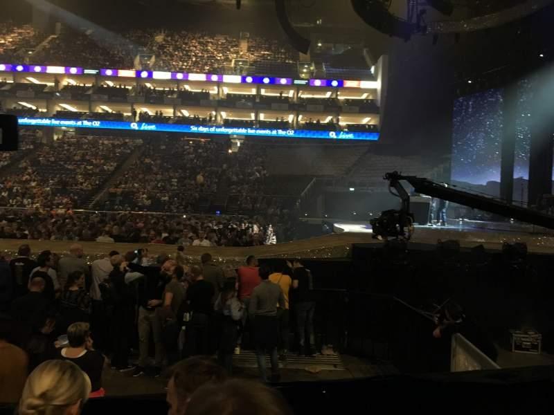 Vista sentada para The O2 Arena Secção 112 Fila E Lugar 388