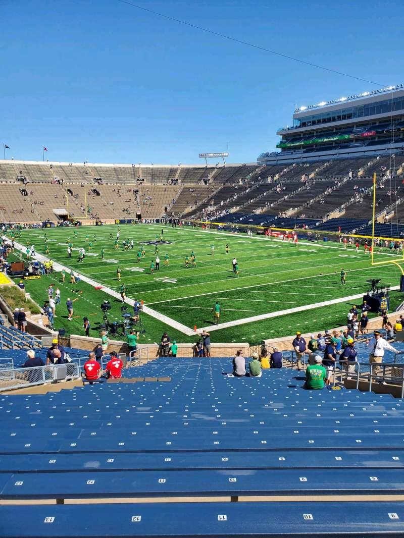 Vista sentada para Notre Dame Stadium Secção 22 Fila 39 Lugar 12