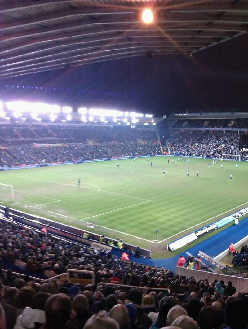 Vista sentada para St Andrew's Stadium Secção 1 Fila 38 Lugar 19