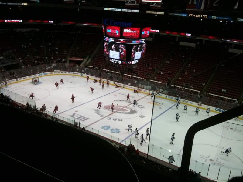 Vista sentada para PNC Arena Secção 302 Fila C Lugar 2