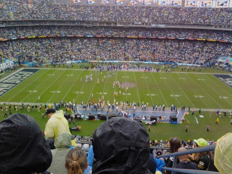 Vista sentada para San Diego Stadium Secção V6 Fila 9