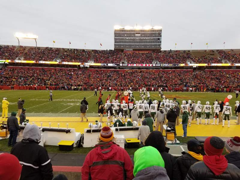 Vista sentada para Jack Trice Stadium Secção 32 Fila 6 Lugar 13