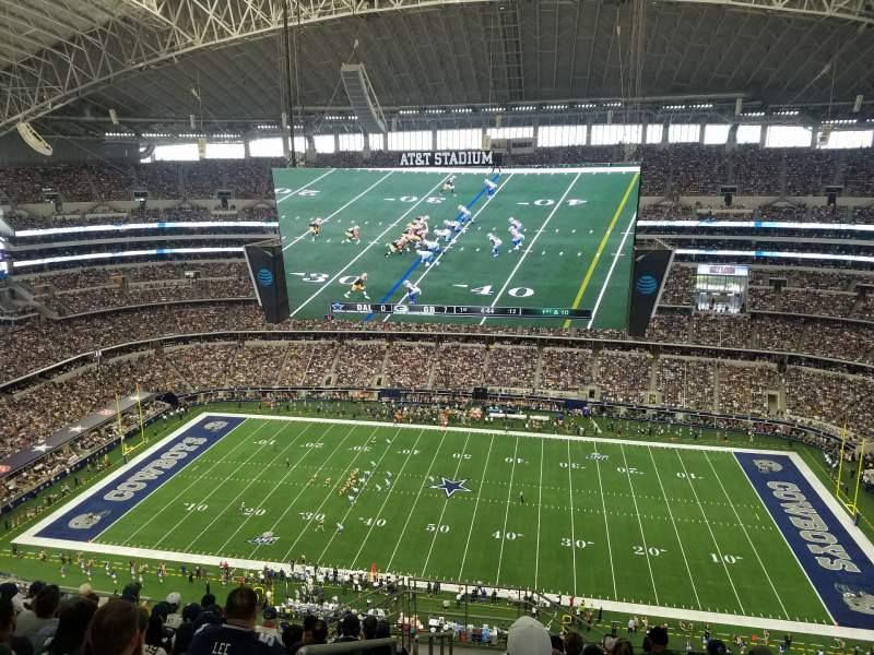 Vista sentada para AT&T Stadium Secção 411 Fila 18 Lugar 26