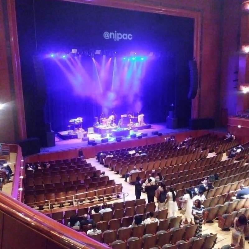 Vista sentada para Prudential Hall at the New Jersey Performing Arts Center Secção Tier 1 Box A Fila A Lugar 4