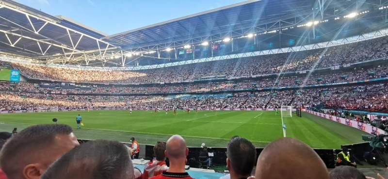 Vista sentada para Wembley Stadium Secção 140 Fila 9 Lugar 206