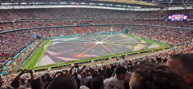 Vista sentada para Wembley Stadium Secção 529 Fila 8 Lugar 69