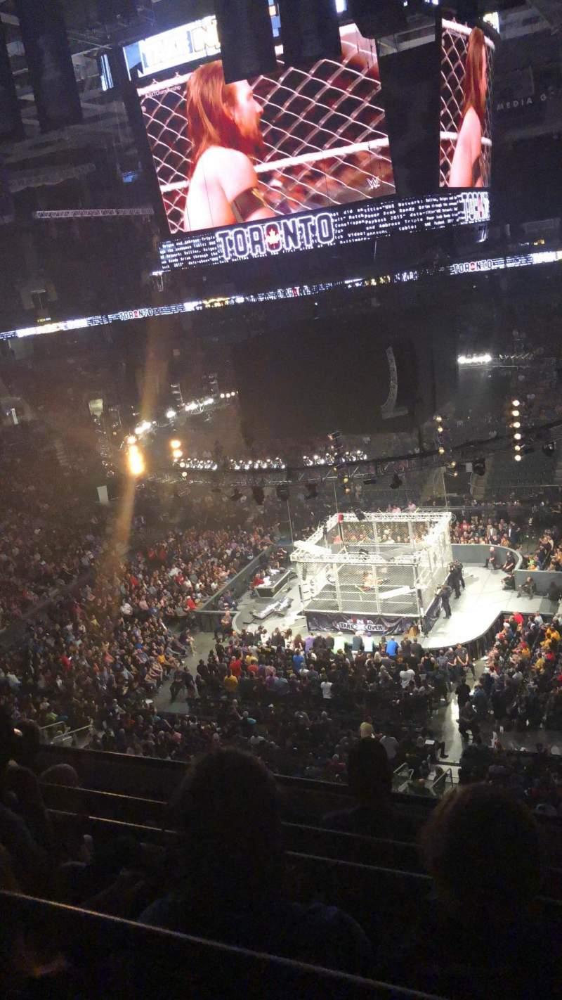 Vista sentada para Scotiabank Arena Secção 320 Fila 5 Lugar 9