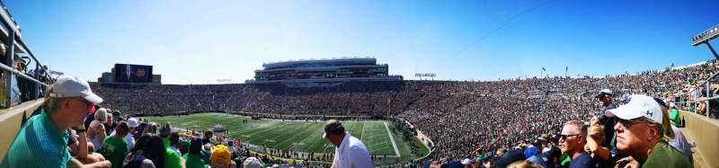 Vista sentada para Notre Dame Stadium Secção 6 Fila 58 Lugar 38