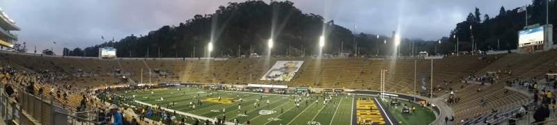 Vista sentada para California Memorial Stadium Secção I Fila 34 Lugar 17