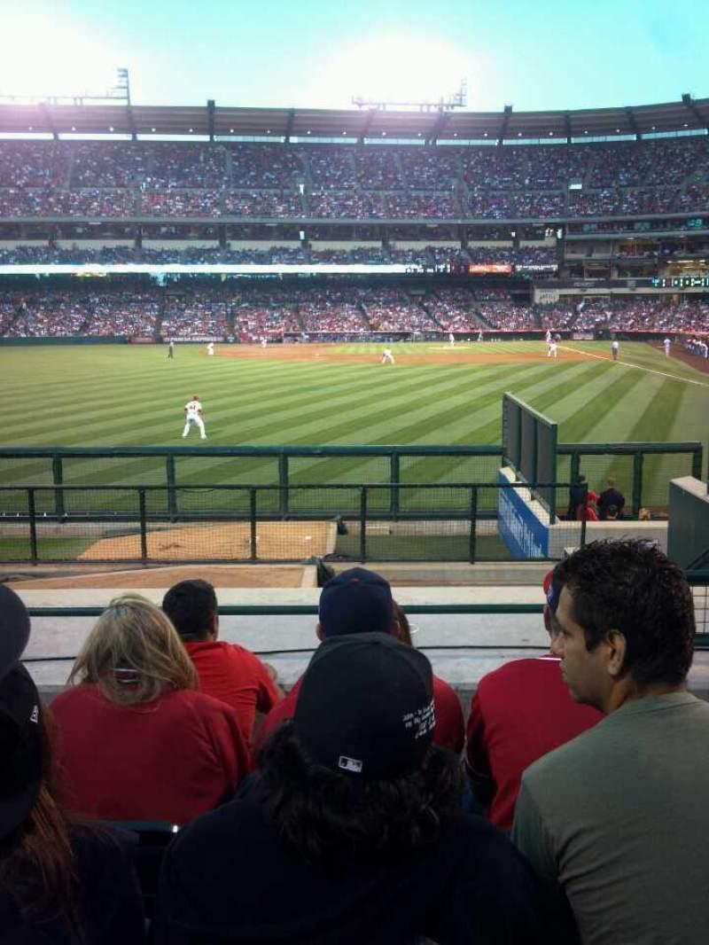 Vista sentada para Angel Stadium Secção 259 Fila L Lugar 22