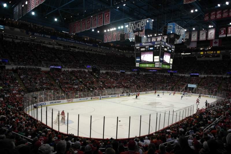 Vista sentada para Joe Louis Arena Secção 226 c standing room Fila 1 Lugar 1