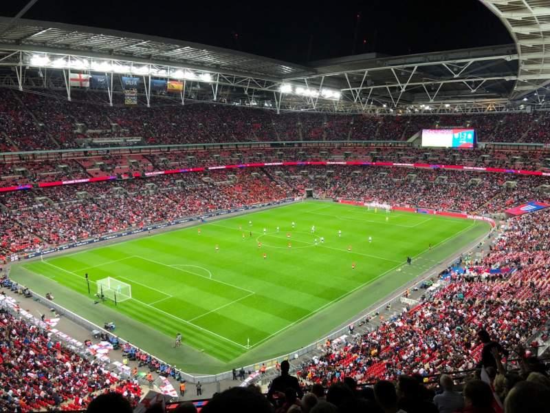 Vista sentada para Wembley Stadium Secção 508 Fila 11 Lugar 221