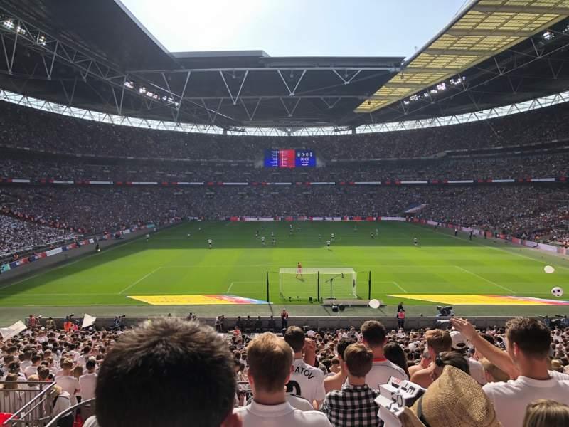 Vista sentada para Wembley Stadium Secção 112 Fila 38 Lugar 8