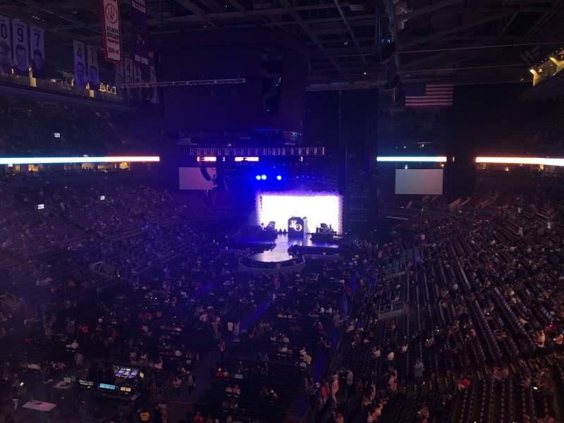 Vista sentada para Scotiabank Arena Secção 301 Fila 1 Lugar 23