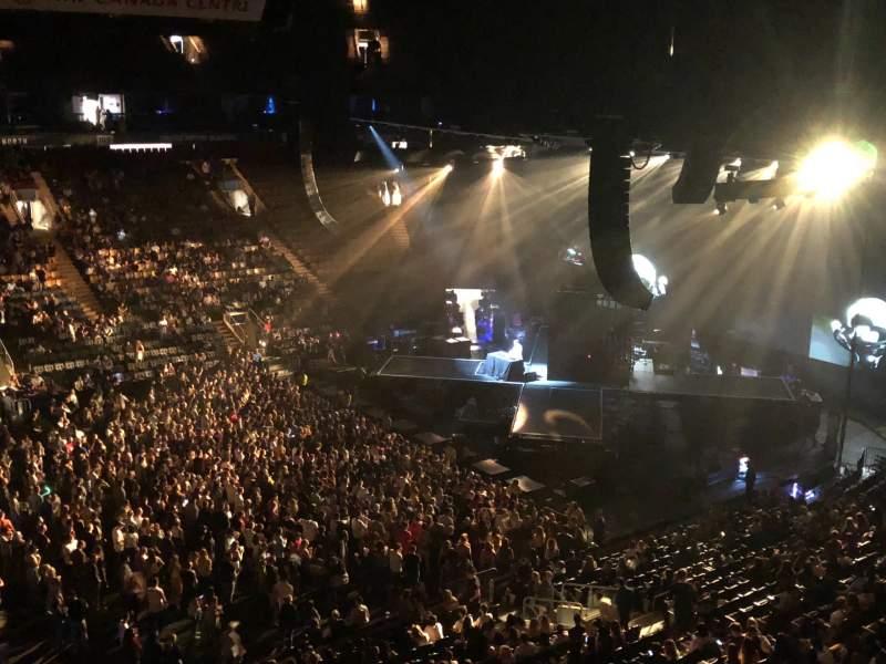 Vista sentada para Scotiabank Arena Secção 321 Fila 1 Lugar 19