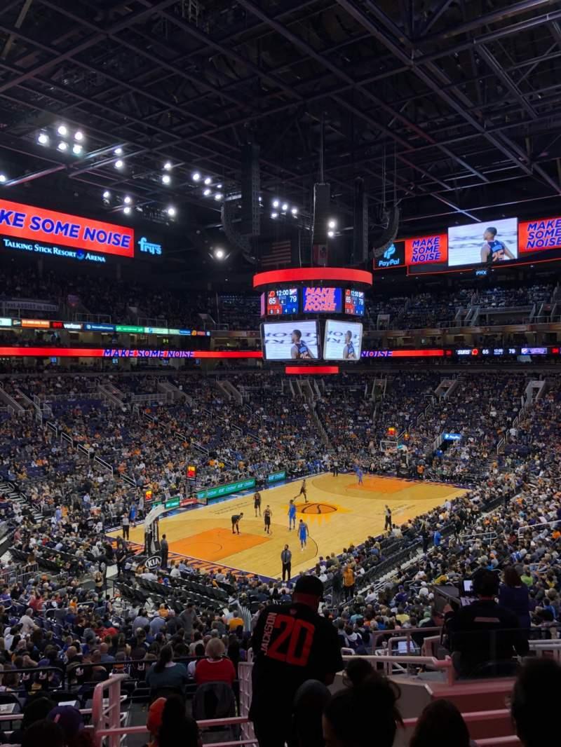 Vista sentada para PHX Arena Secção 118 Fila 30 Lugar 4