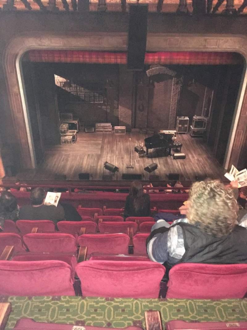 Vista sentada para Walter Kerr Theatre Secção Mezzanine C Fila G Lugar 110