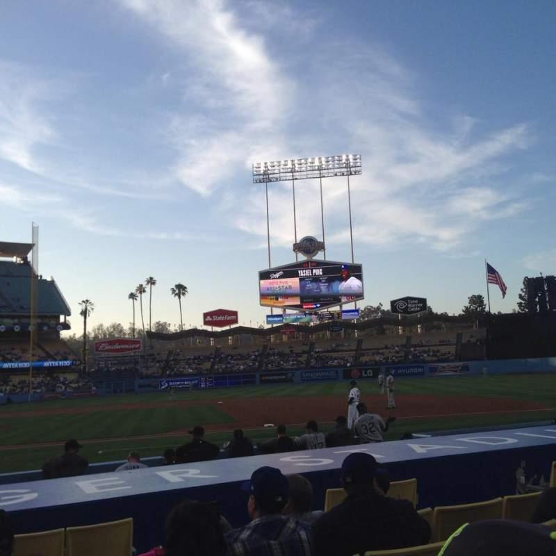 Vista sentada para Dodger Stadium Secção 20FD Fila B Lugar 1
