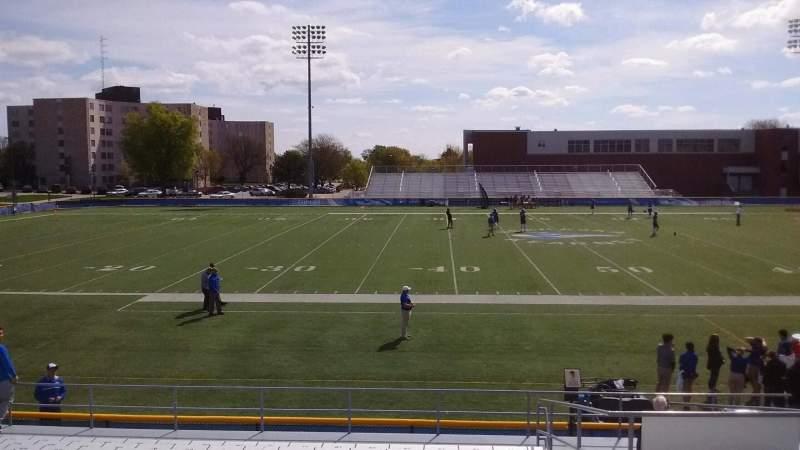 Vista sentada para Cope Stadium Secção D Fila 18 Lugar 73
