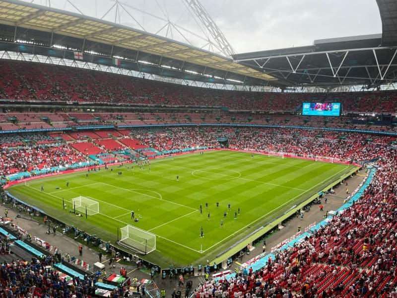 Vista sentada para Wembley Stadium Secção 534 Fila 15 Lugar 226