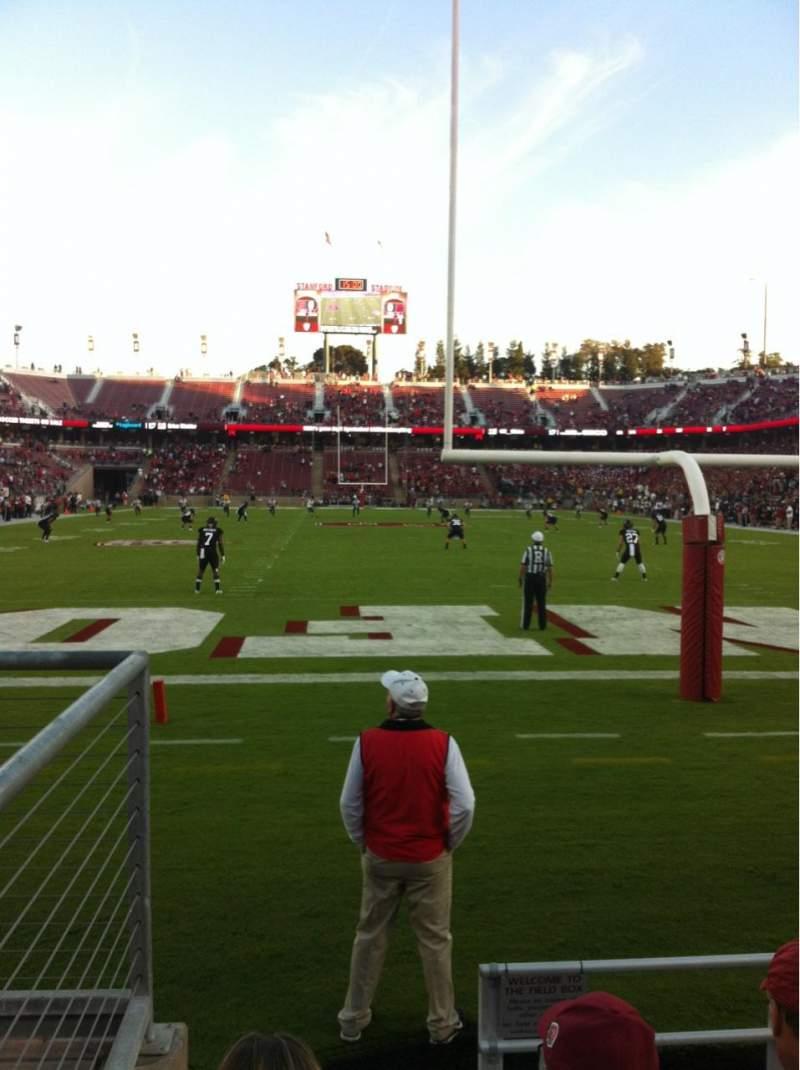 Vista sentada para Stanford Stadium Secção 123 Fila B Lugar 21