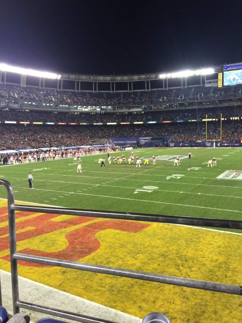 Vista sentada para Qualcomm Stadium Secção P55 Fila B Lugar 3