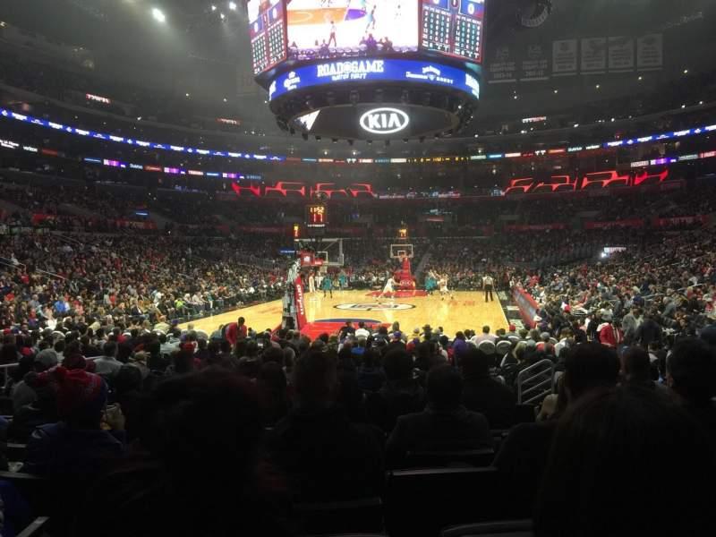 Vista sentada para Staples Center Secção 106 Fila 9 Lugar 11