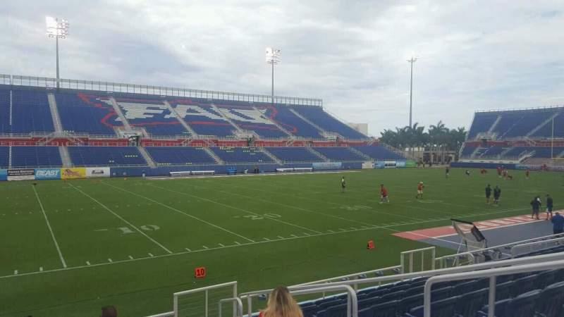 Vista sentada para FAU Stadium Secção 110 Fila F Lugar 5