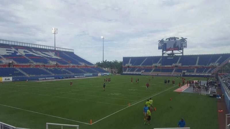 Vista sentada para FAU Stadium Secção 114 Fila L Lugar 5