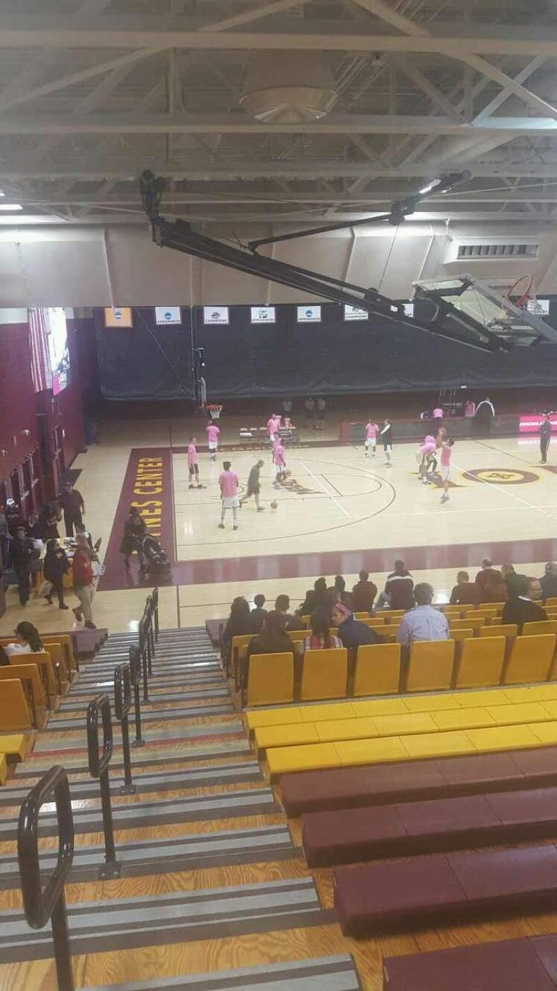 Vista sentada para Hynes Athletic Center Secção 15 Fila V Lugar 15