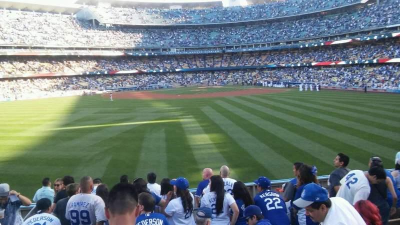 Vista sentada para Dodger Stadium Secção 311/313
